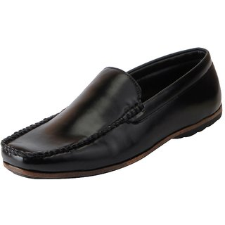 Bata Mens Black Formal Slip On Shoes