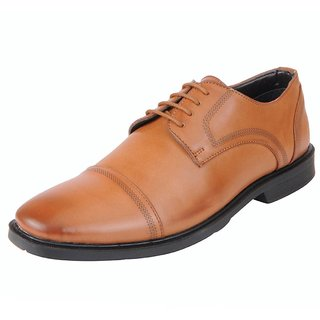 Bata Mens Tan Formal Lace Up Shoes