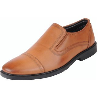 Bata Mens Tan Formal Slip On Shoes