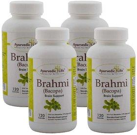 Ayurvedic Life Brahmi 120 capsules (Pack of 4)