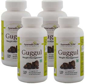 Ayurvedic Life Guggul 120 Tablets (Pack of 4)