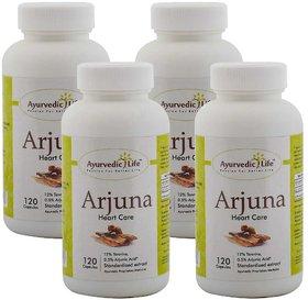 Ayurvedic Life Arjuna 120 Capsules (Pack of 4)