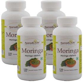 Ayurvedic Life Moringa 120 Tablets (Pack of 4)