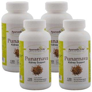 Ayurvedic Life Punarnava 120 capsules (Pack of 4)