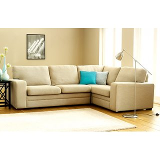 houzzcraft vivo L shape sofa beige