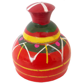 Wedding Sindoor Box/Wooden Sindur Dani/Sindhora-(L x W x H in cm) - 6x6x7, Wooden Sindoor Box, Wooden SindoorDani