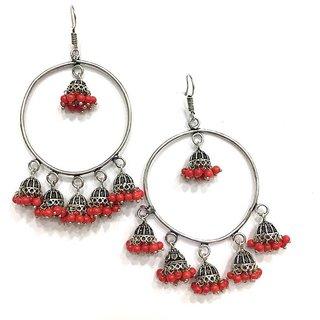 Indian Silver Plated Oxidized Latest Design Multy Colour Jumka Jumki Earring Women Fashion