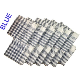 HomeStore-YEP Multipurpose Cleaning Cloth, Kitchen Napkin, Table Wipe (17x17 inch) - Pack of 12, Large Size, Blue