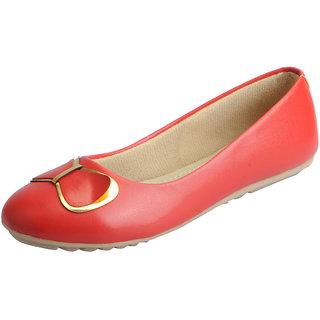 Fausto Women's Red Trendy Ballerina