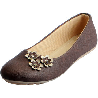Fausto Women's Brown Trendy Ballerina