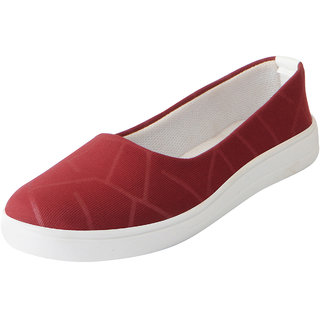 Fausto Women's Cherry Stylish Canvas Ballerina