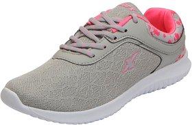 Sparx Women's Grey Pink Mesh Sports Running Shoes