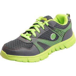 Action Womens Grey Green Mesh Sports Running Shoes