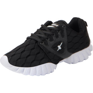 Sparx Womens Black White Mesh Sports Running Shoes