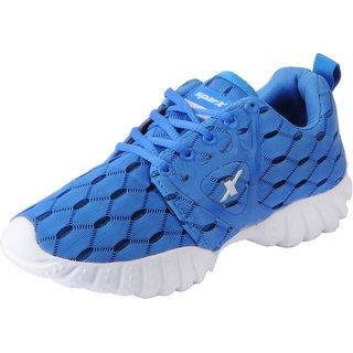 Sparx Women's Blue White Mesh Sports Running Shoes