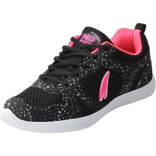 Lakhani Pace Energy Womens Black Pink Mesh Sports Running Shoes
