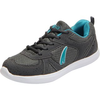 Lakhani Pace Energy Womens Grey Green Mesh Sports Running Shoes