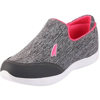 Lakhani Pace Energy Womens Grey Pink Mesh Sports Running Shoes