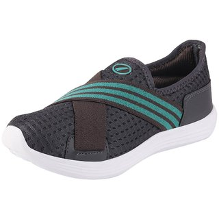 Lakhani Pace Energy Womens Grey Green Sports Running Shoes
