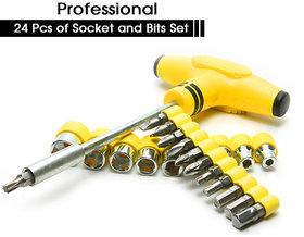 Shopper52 Multi purpose 24 PCS Screwdriver Socket Set  Bit Tool Kit Set Combination Tool For Home  Office  24PCTK