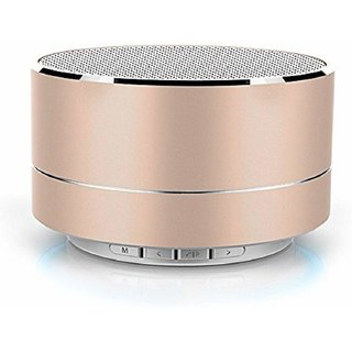 doitshop A18 Wireless 3W Portable Bluetooth Speaker with Memory Card (Gold Color)
