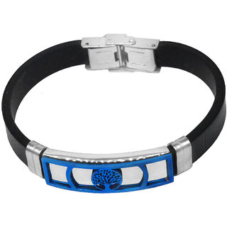 Sullery Vintage Biker Family Tree Best Friend Wristband With Stainless Steel Foldover Clasp