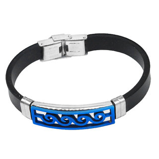 Sullery Vintage Biker Stylish Best Friend Wristband With Stainless Steel Foldover Clasp