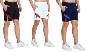 Multicolor Cotton Blend Short Length Baggy Shorts For Men by Dia A Dia
