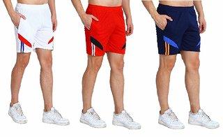 Dia A Dia Zip Pockets Sports Shorts Navy, Red, Yellow for Men
