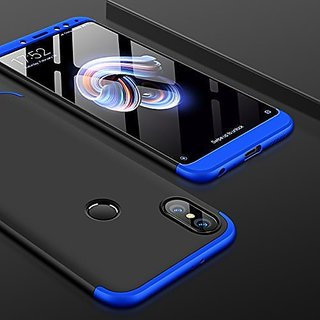 MOBIMON Redmi Note 5 Pro Front Back Cover Original Full Body 3-In-1Slim Fit Complete 3D 360 Degree Protection - Blue