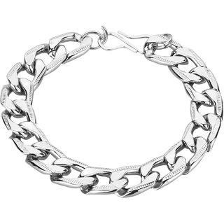 Mens Silver Bracelet heavy Design 9 Inch Big Size Valentines Day Special Gift For Men  Boy