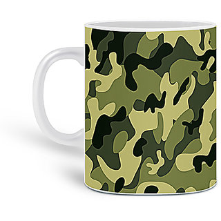 Customized Army Printed Ceramic Mug 325ML