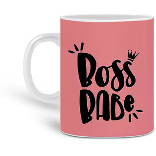 Customized Boss Babe Printed Ceramic Mug 325ML