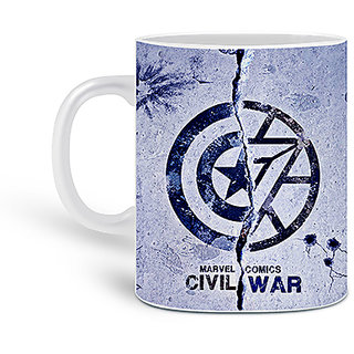 Customized Civil War Printed Ceramic Mug 325ML