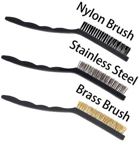 DIY Crafts Heavy Duty Wire Bristle Brushes for Cleaning Welding Slag and Rust, 12 Pieces