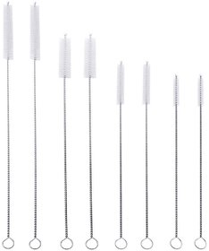 DIY Crafts Straw Cleaning Brush Kit for 4 Different Sizes  Length from 7 to 12, Width from 5 mm to 12 mm(Pack of 8)