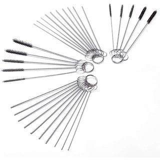 DIY Crafts Carb Carburetor Cleaner Cleaning Brushes Kit(20 Needles + 10 Brushes)