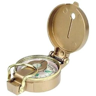DIY Crafts Brass Finish Magnetic Compass Works Angle Fitter