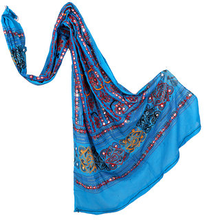 Rajasthani Indian Kutch Work Dupatta Women's Stole long Veil scarves Hijab Wedding Party Wear