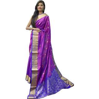 Indians Boutique's Pure Silk Saree (Purple)