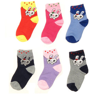 Neska Moda 6 Pairs Baby Boys And Girls Multi Color Cotton Ankle Length Infant Socks Age Group 0 to 3 Years Soft Fabric  Lightweight