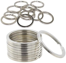DIY Crafts Nickle Plated Key Chain Ring Metal Split Ring(Pack of 100 pcs)