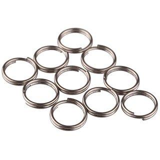 DIY Crafts 12mm Split Rings Titanium Small Key Rings(Pack of 10)