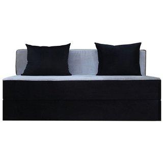 houzzcraft Finno sofa cum bed black and white