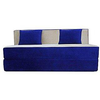 houzzcraft finno sofa cum bed blue and white