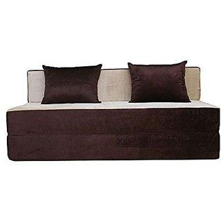 houzzcraft finno sofa cum bed brown and beige