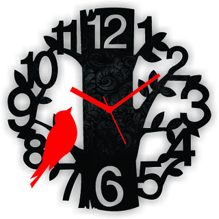 Roshan Trading Wall Clock Red Tree
