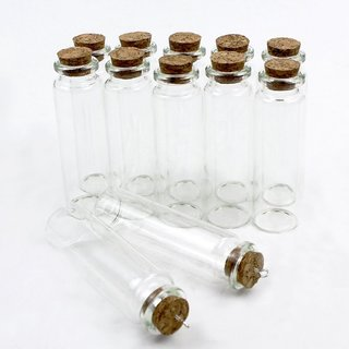 0d960608fa7d DIY Crafts 25ml Small Mini Glass Bottles Jars with Cork Stoppers with  funnels(Pack of 36)