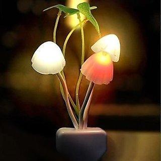 Color Changing LED Mushroom Night Lamp Light with Switch mushroom led night lamp wall light