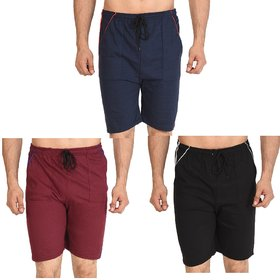 Dia A Dia Unisex Combo of 3 Cotton Shorts